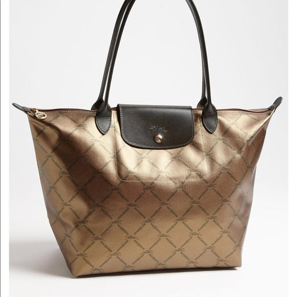 Longchamp Handbags - Longchamp Le Pliage Metallic Handbag (full size) c4f280ec387af